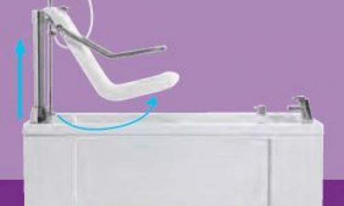 Gentona height-adjustable assisted bath